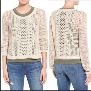 Madewell Crochet Sweater Pullover